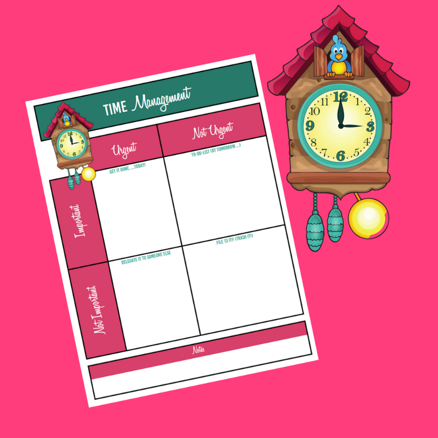 picture relating to Time Management Printable named Year Handle Printable
