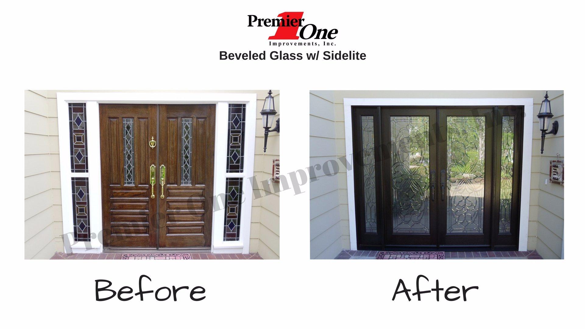 Decorative Beveled Glass Doors Premier One Improvements Inc