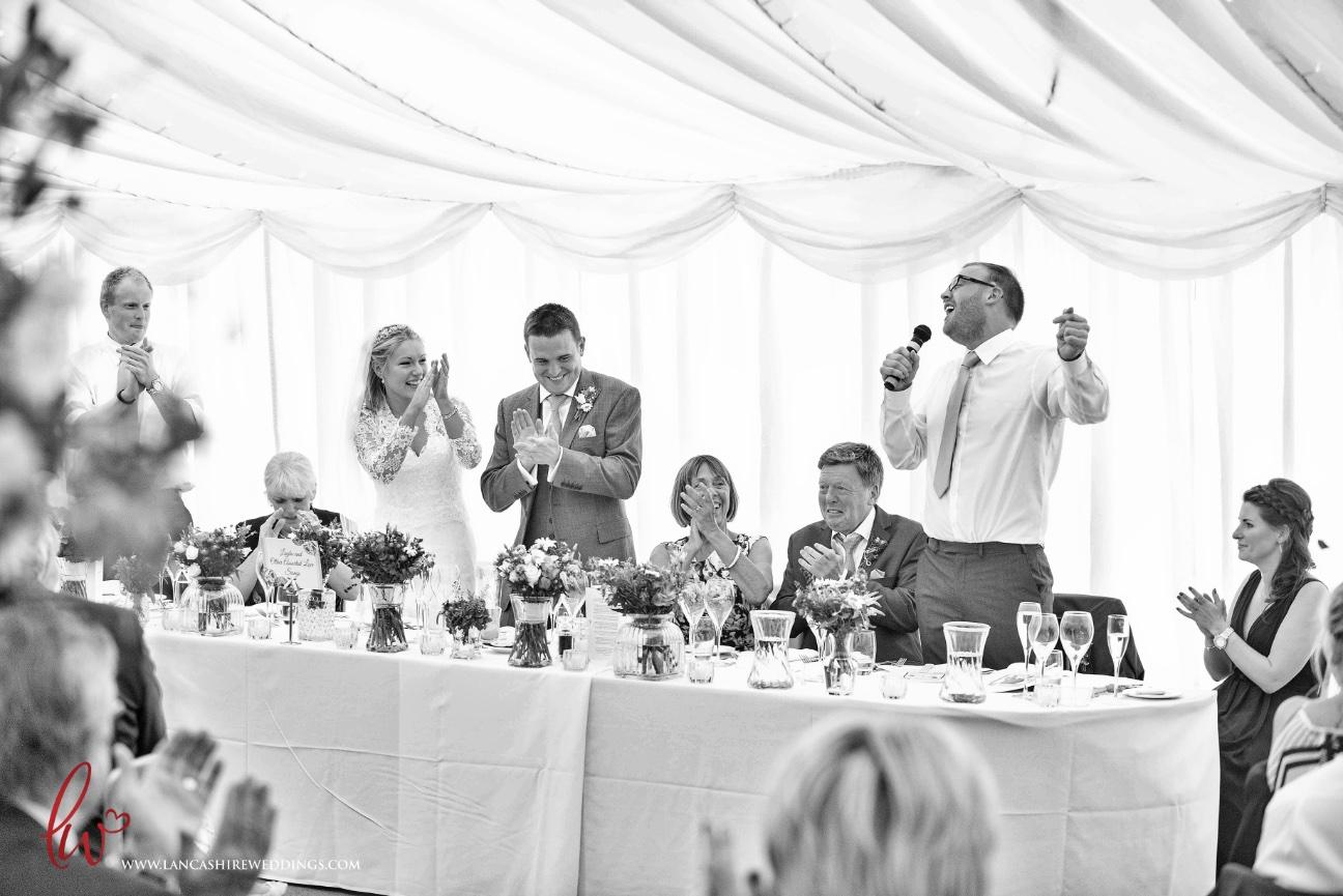 Wedding reception at Nunsmere Hall