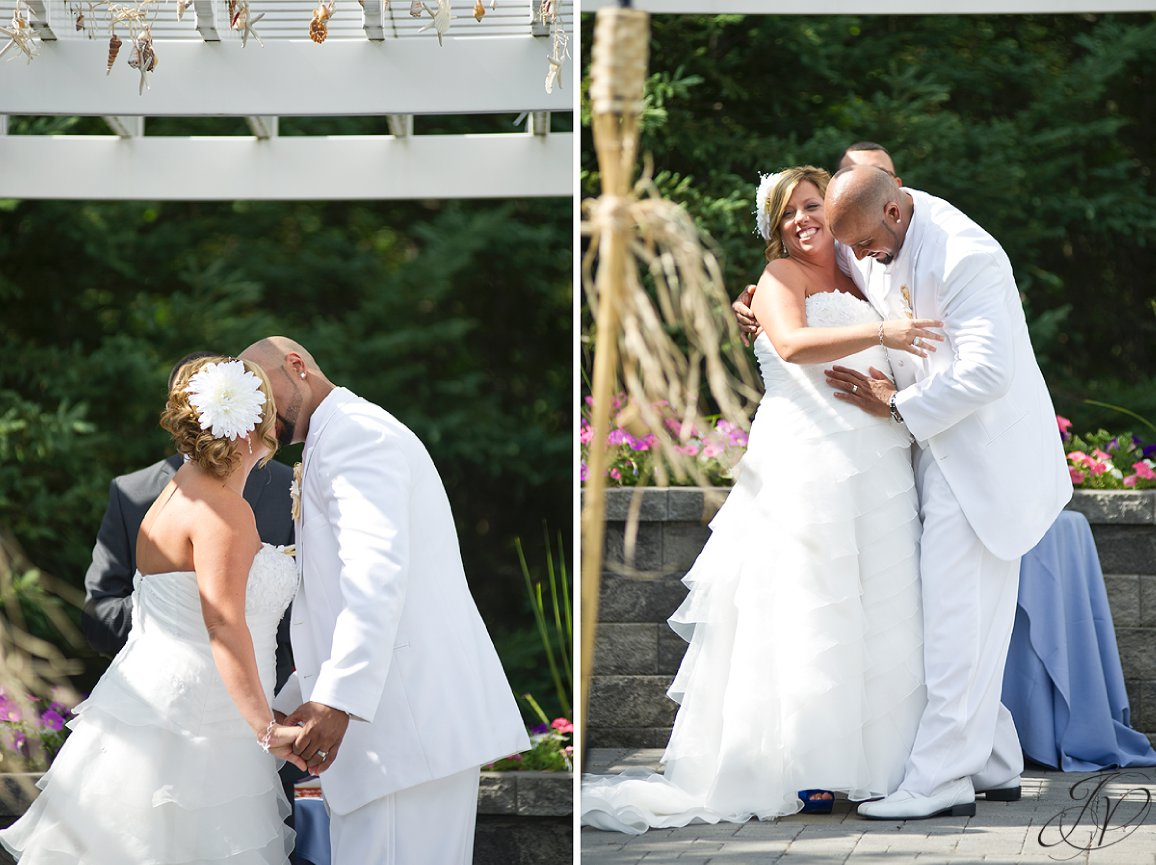 Settle Hill Tree Farm Wedding ,Albany Wedding Photographer, Michele and Sean, first kiss photo, ceremony photos