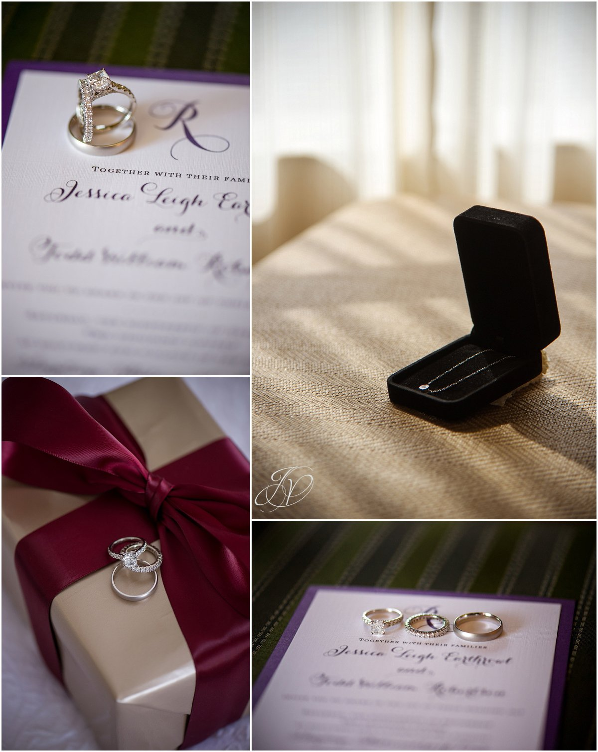 wedding ring details wedding invitation
