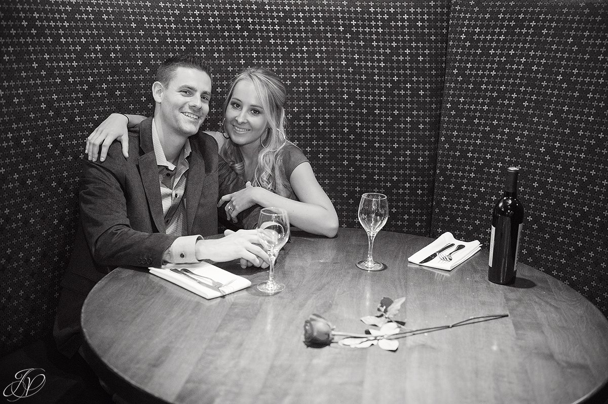intimate third date black and white photo