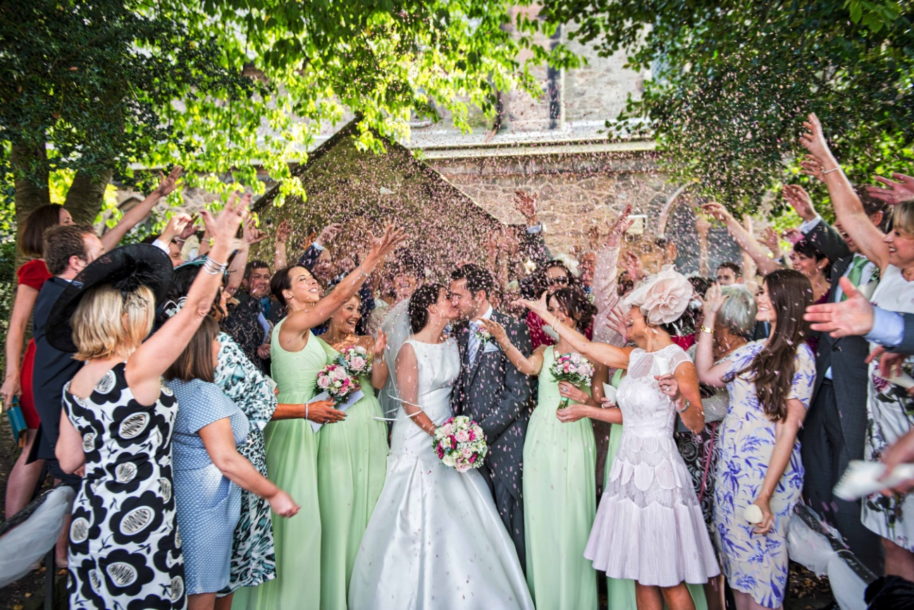 Ormskirk church confetti shot