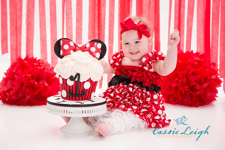 Jimi Raye's Minnie Mouse Birthday! (Concord, NC Cake Smash ...