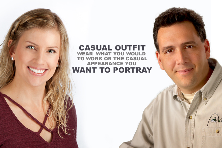 what to wear for a casual headshot