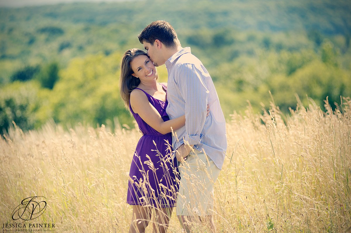 engaged couple kissing photo, Chatham engagement photographer, albany engagement, engagement portrait, on location photography
