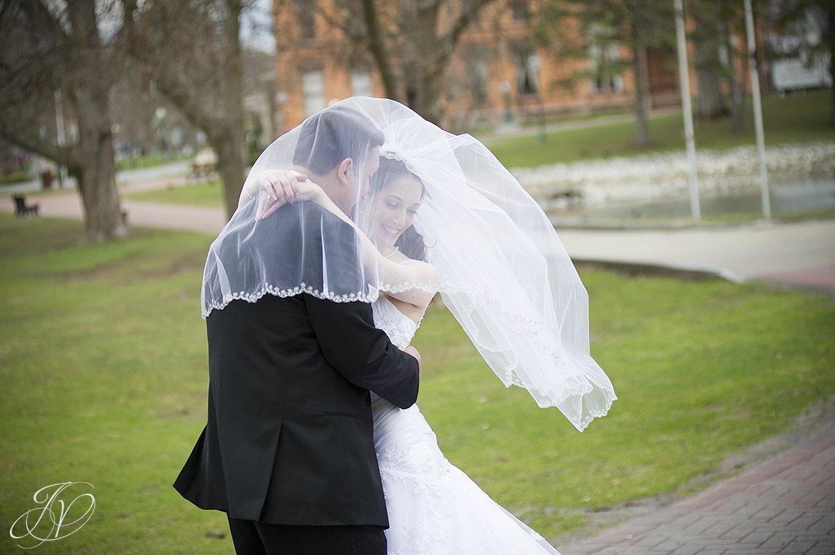 bridal veil photos, bride and groom photos,  Saratoga Wedding Photographer, The Canfield Casino wedding