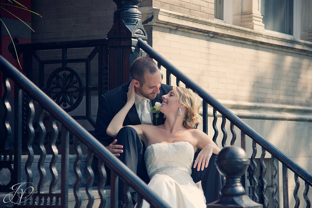 brownstone wedding portraits, bride and groom photos, Albany Wedding Photographer, bridal portrait photography