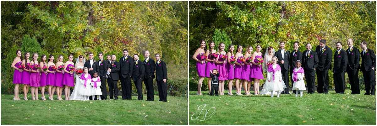 large bridal party glen sanders mansion wedding