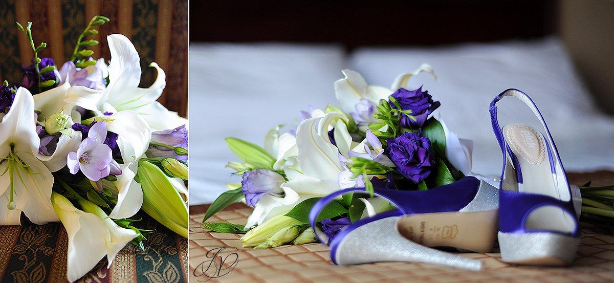 spring lilies for a bridal boquet