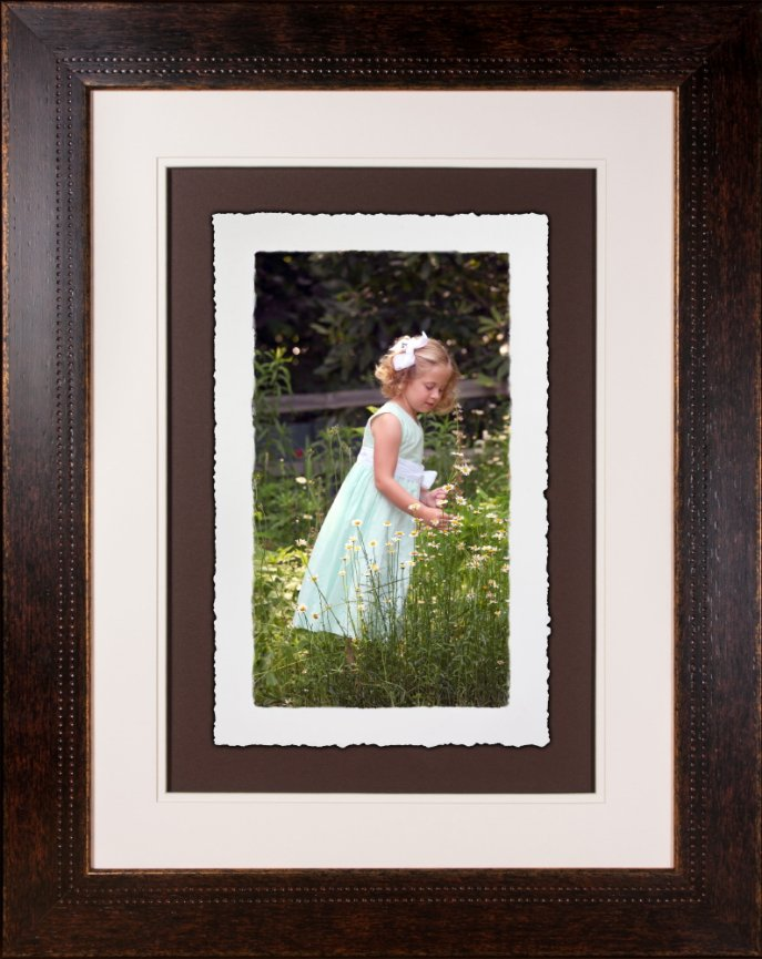 10x16 fine art torn edge print WITH FRAME - Angle Photography