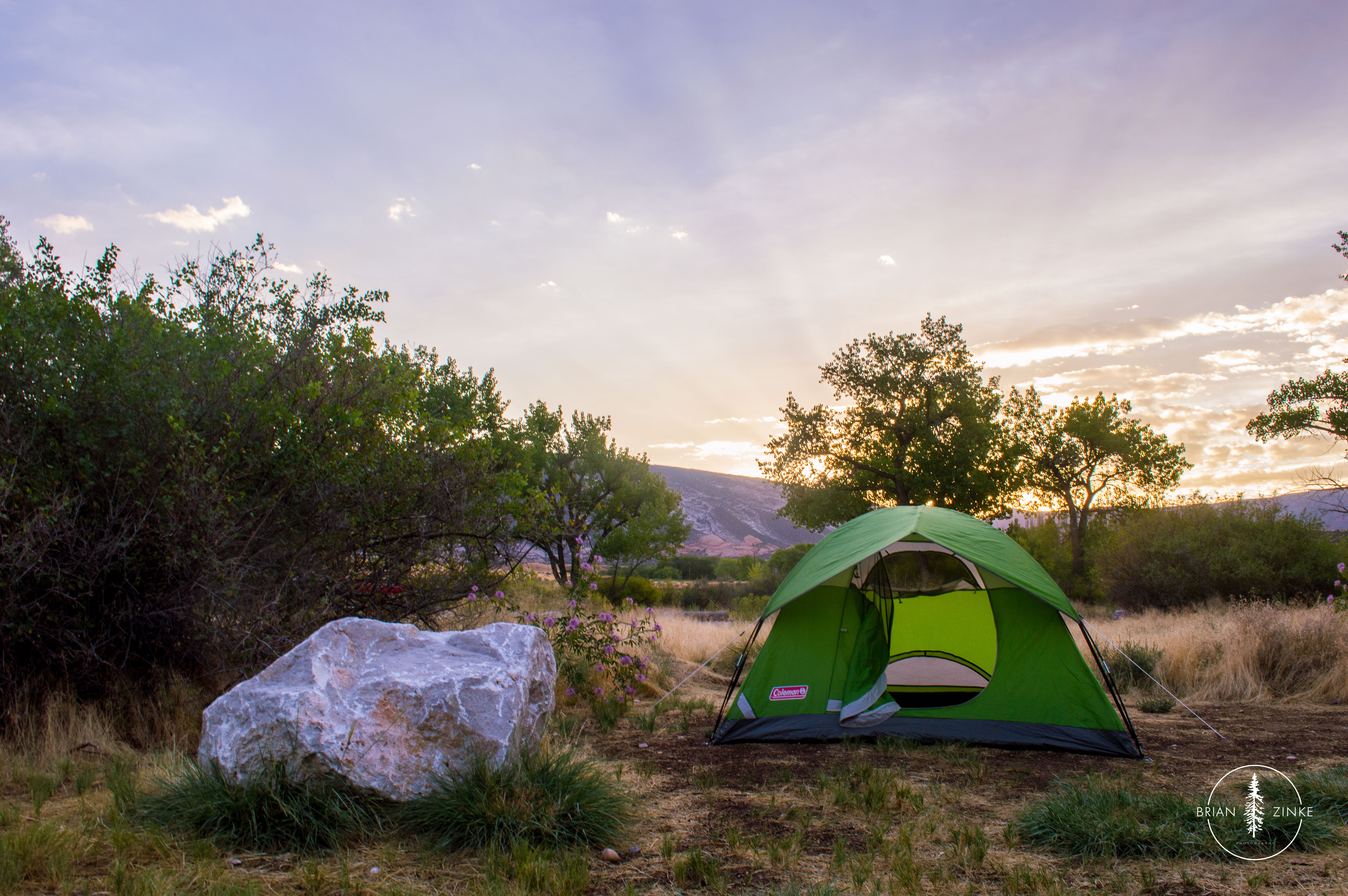 Green River campground, Dinosaur National Monument, Vernal, Utah