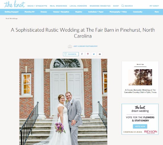 the knot featured wedding north carolina pinehurst country photography photographers photo