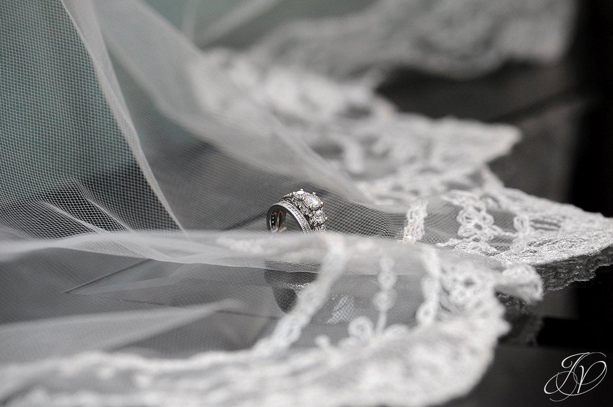 wedding ring detail photo, wedding bling photo, bridal veil photo, albany wedding dress photo, Wedding at The Crooked Lake House, Albany Wedding Photographer