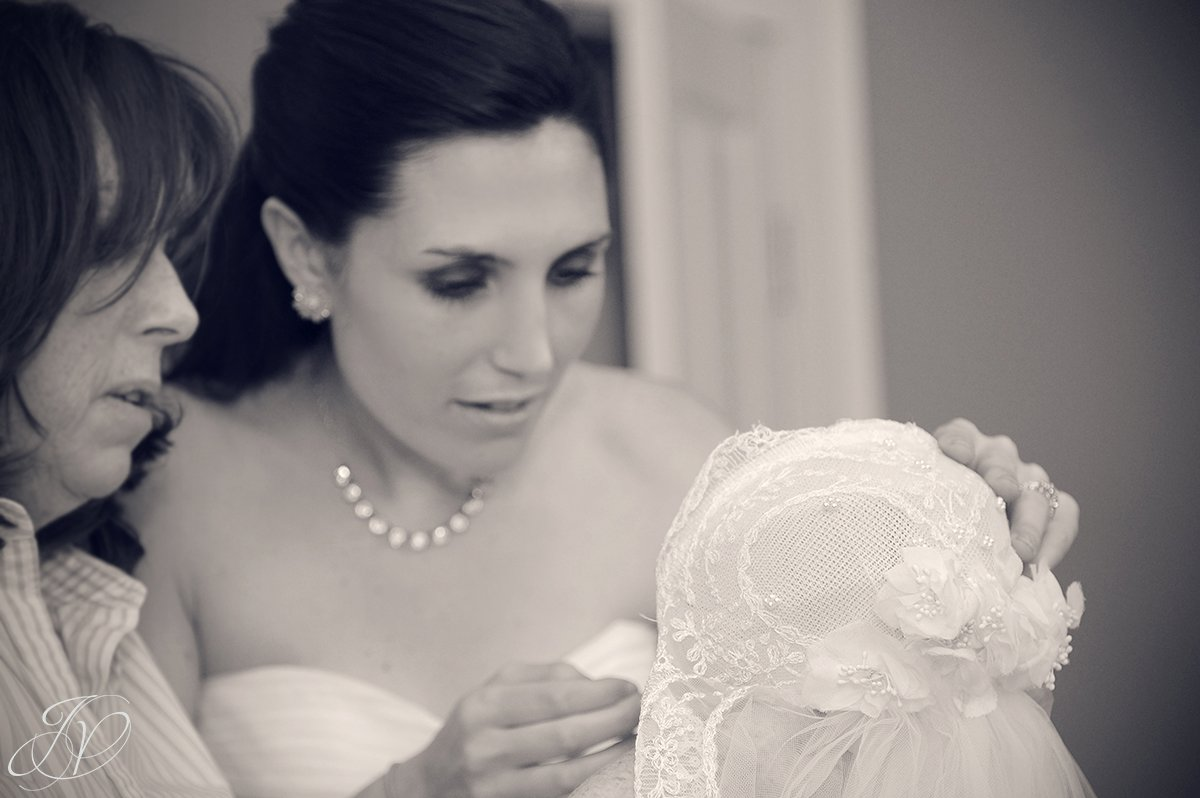 mother with bride photo, bridal veil photo, bride and veil photo, Albany Wedding Photographer, Wedding at The Crooked Lake House