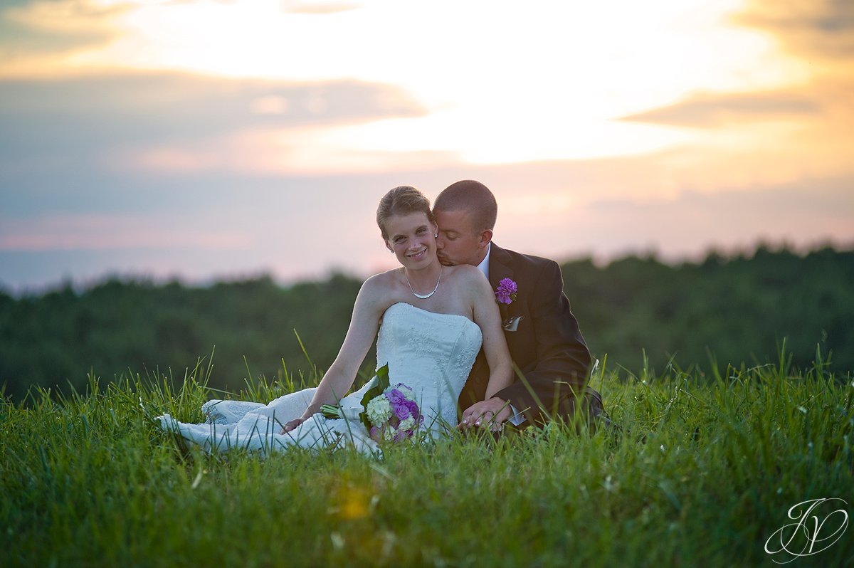 Saratoga Wedding Photographer, upstate wedding photographer, outdoor wedding photo, bride and groom sunset photo