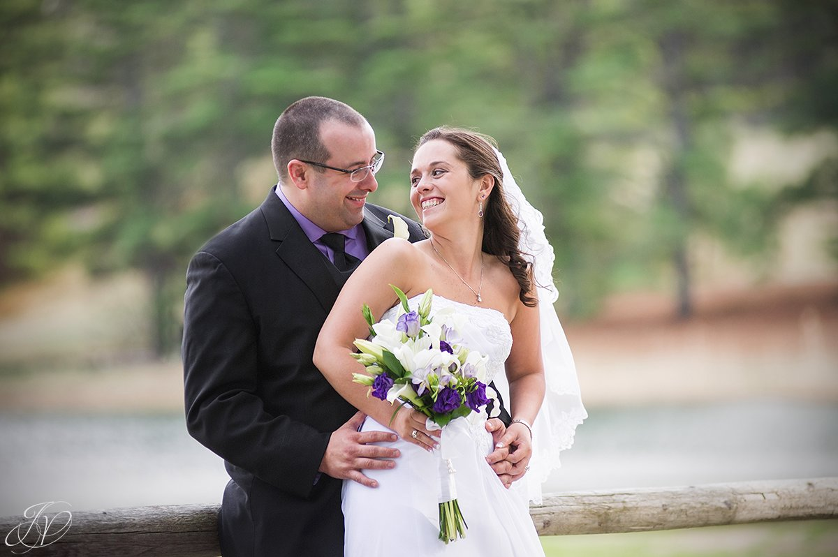 candid laughing bride and groom photo
