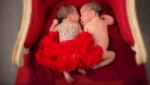Valentines newborn photos