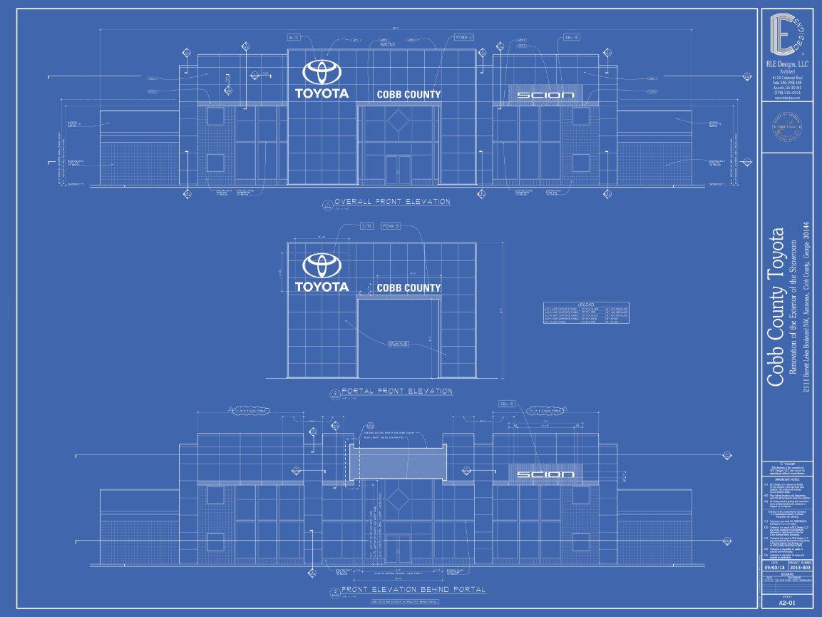 RLE Designs, LLC   Architect In Acworth, Georgia   Cobb County Toyota    Showroom Exterior