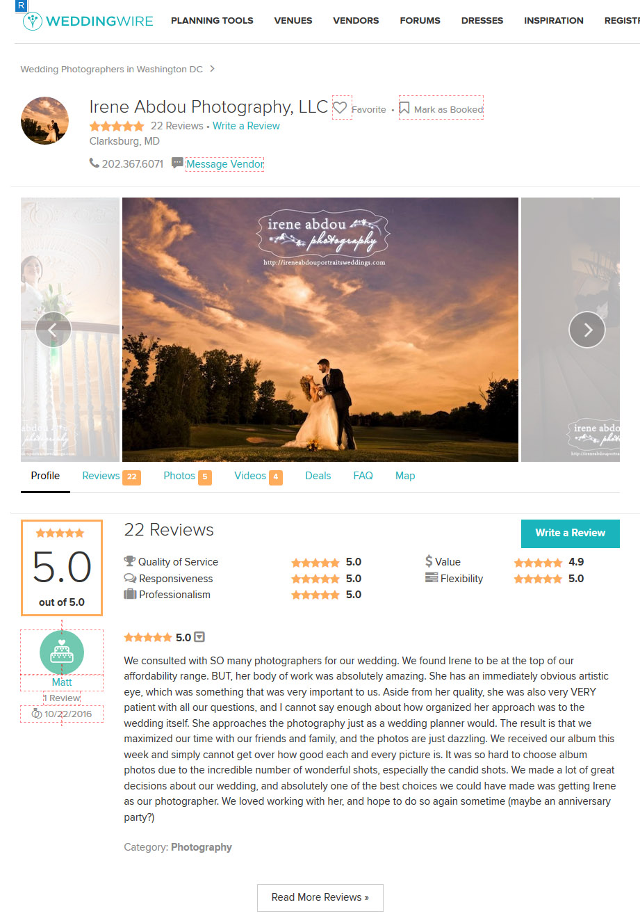 Read our Washington DC wedding photographer reviews on WeddingWire