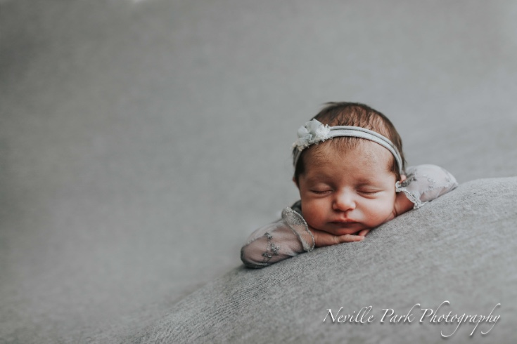 Adorable newborn baby girl