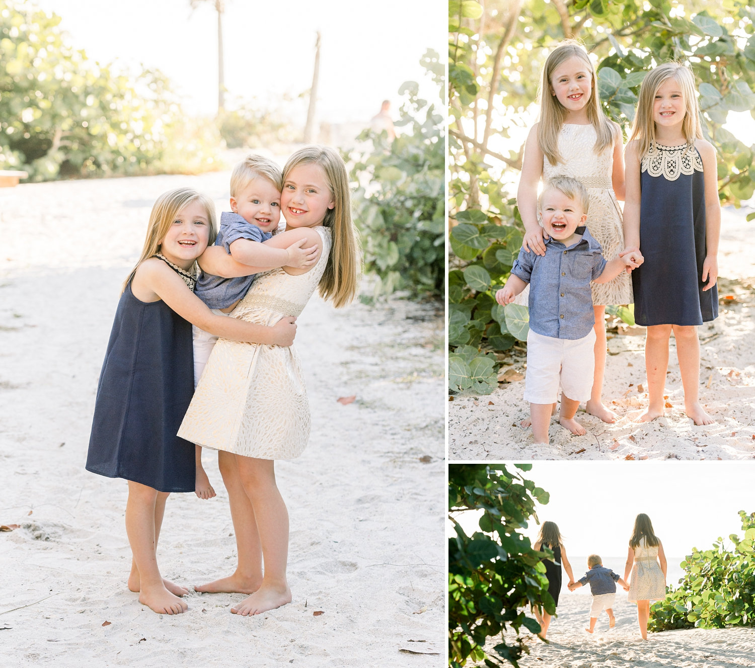 image collage, beach sibling photography, coastal photography, Rya Duncklee